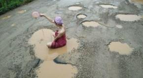 Campanie inedită în Thailanda, împotriva gropilor din asfalt