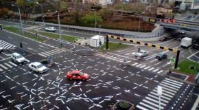Marcajele rutiere de la o intersecţie din Timişoara, devenită celebră în întreaga lume, ar putea dispărea