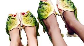 Fiţa verii, papucii în formă de peşte!