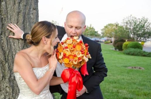 Ce nebunie! Buchet de pizza în ziua nunții