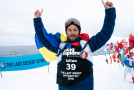 Un pompier român, pe locul 2 la un maraton la -60 de grade Celsius, la Polul Sud