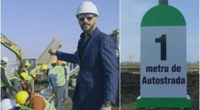 Ștefan Mandachi inaugurează azi primul metru de autostradă din Moldova. Zeci de persoane, firme și primării s-au alăturat protestului #șîeu