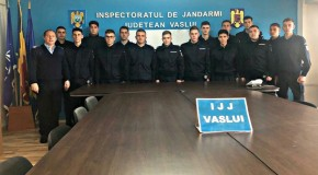 Elevi în practică la Jandarmeria Vaslui
