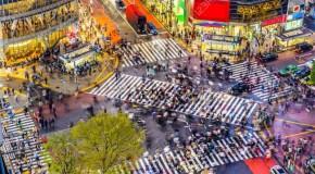 Cea mai aglomerată intersecție din lume se află în Tokyo