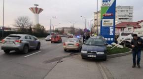 Un nou accident la intrare în municipiul Vaslui
