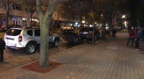 Accident teribil în centrul Vasluiului: șase mașini făcute praf de un șofer inconștient