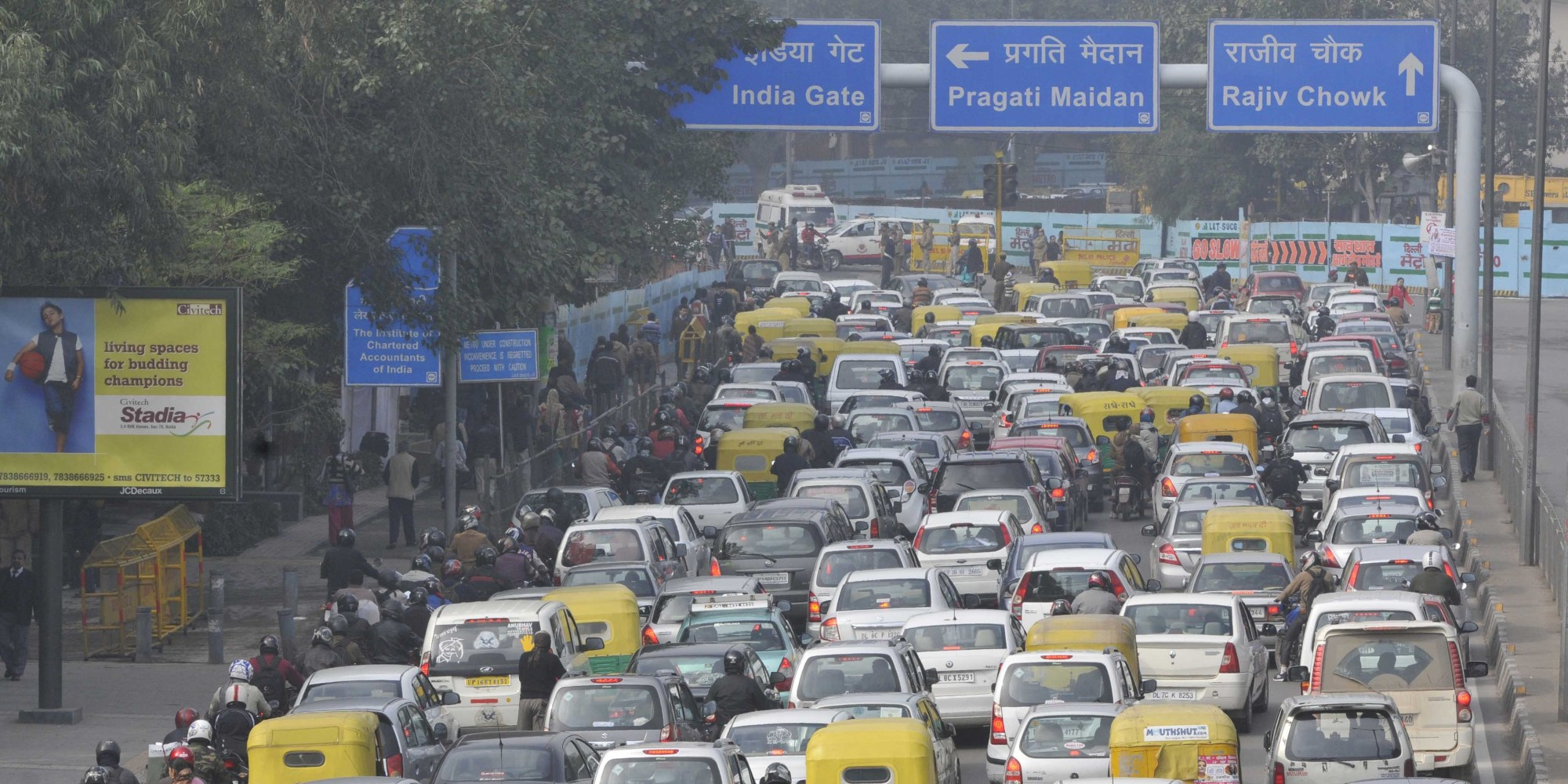 Traffic Jams Due To Republic Day Parade