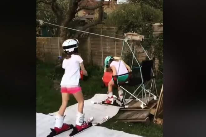 ski telescaun acasa iarba