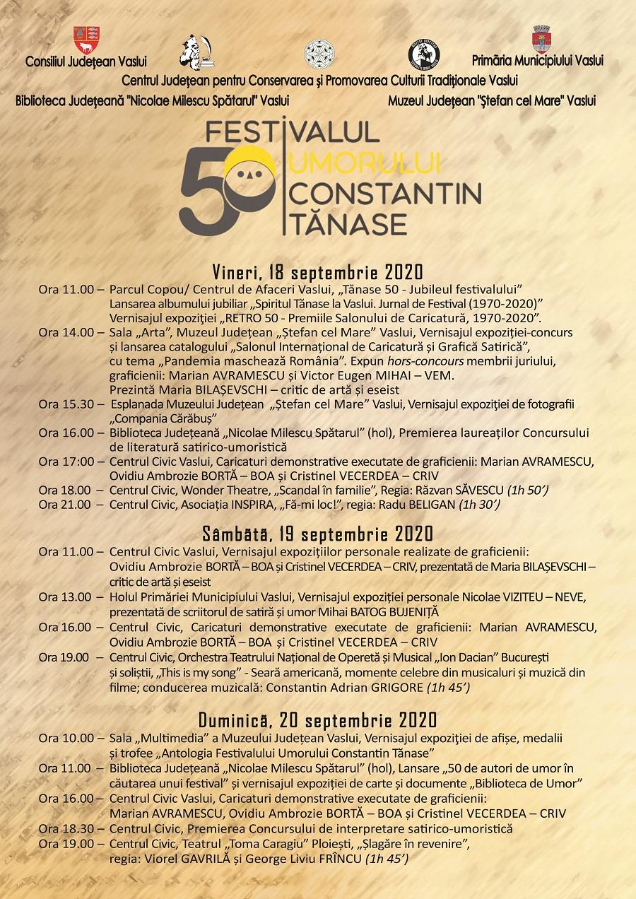 afis program FESTIVAL 18-20 septembrie
